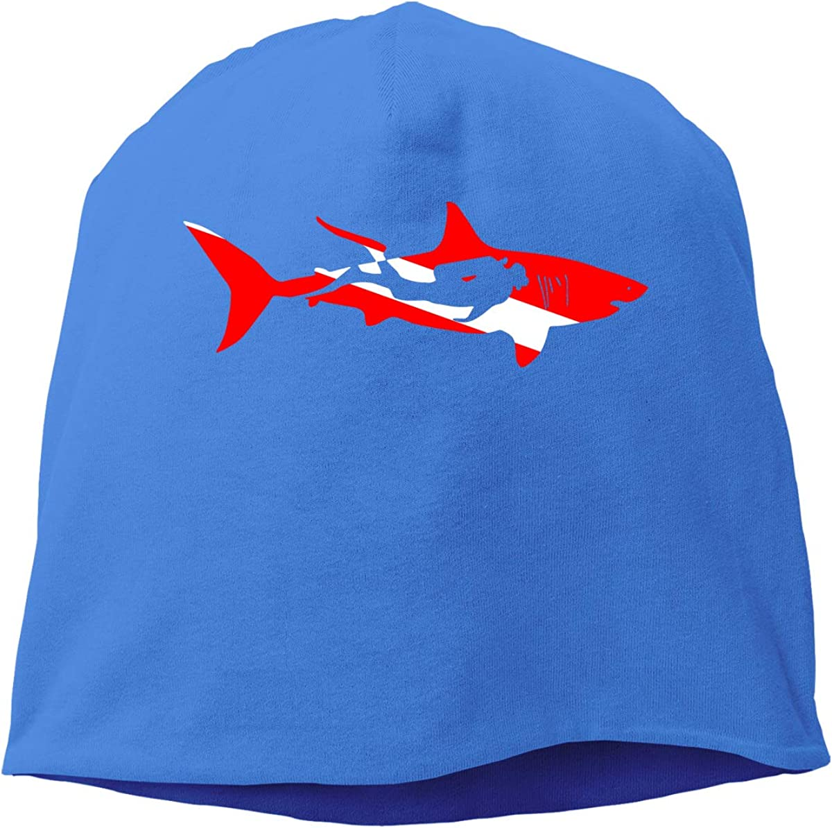 Shark Diver Diving Men /& Women Winter Skull Cap Hiking Beanie Hat