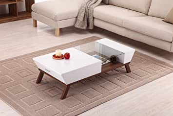 Kress Glass Insert Coffee Table (White)