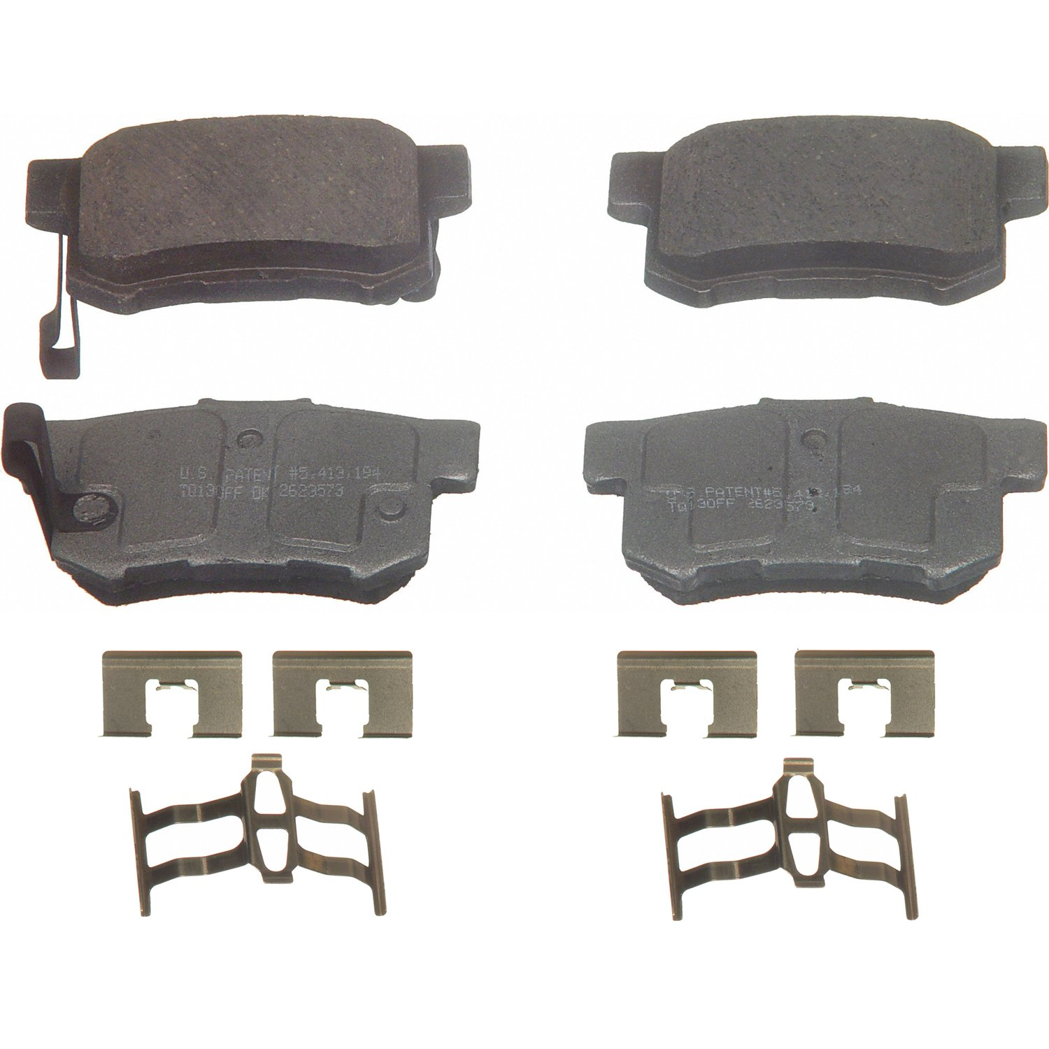 Disc Brake Pad Set-ThermoQuiet Disc Brake Pad Front Wagner QC363A