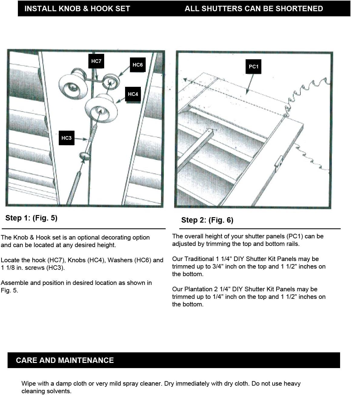 """Faux Wood DIY  1 1//4/"""" Louver Shutter Kit 39/"""" 41/"""" W X 20/"""" H"""