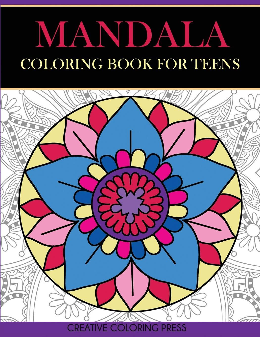 Amazon.com: Mandala Coloring Book For Teens: Get Creative, Relax