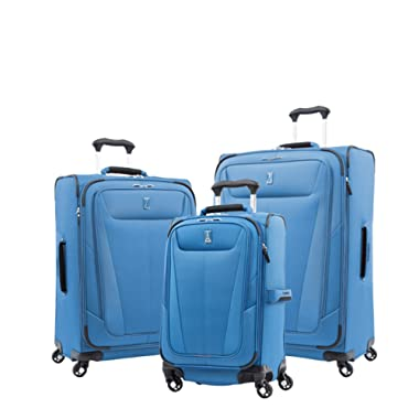 Travelpro Luggage Maxlite 5 | 3-PC Set | 21  Carry-On, 25  & 29  Exp. Spinners (Azure Blue)