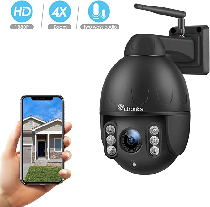 Wireless WiFi IP Camera Night vision CCTV PTZ Cam Home Security With//No Card