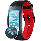 Samsung Gear Fit 2 Pro Folie - 3 x atFoliX FX-Curved-Clear flexible Schutzfolie für gewölbte Displays