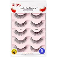 Kiss Lashes Look so Natural Multi Pack - 5 Pairs - Eyelashes 01 , 0.05 Pounds