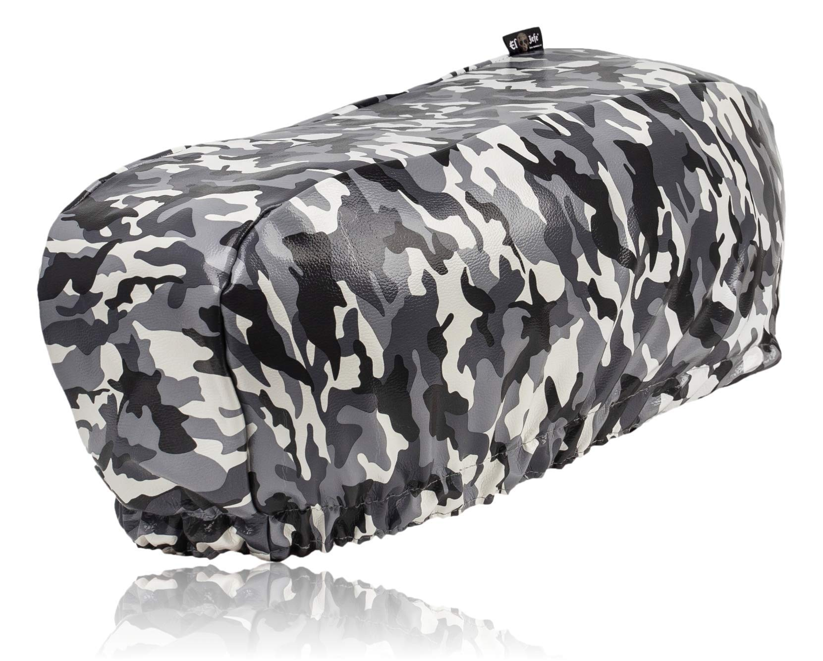 EL JEFE Camo Winch Cover Dust-Proof, Waterproof, UV & Mildew-Resistant Winch Protection Cover W/Sewn-in Elastic Band | Ideal for Electric Winches Up to 17500 Lbs (Camo) by EL JEFE