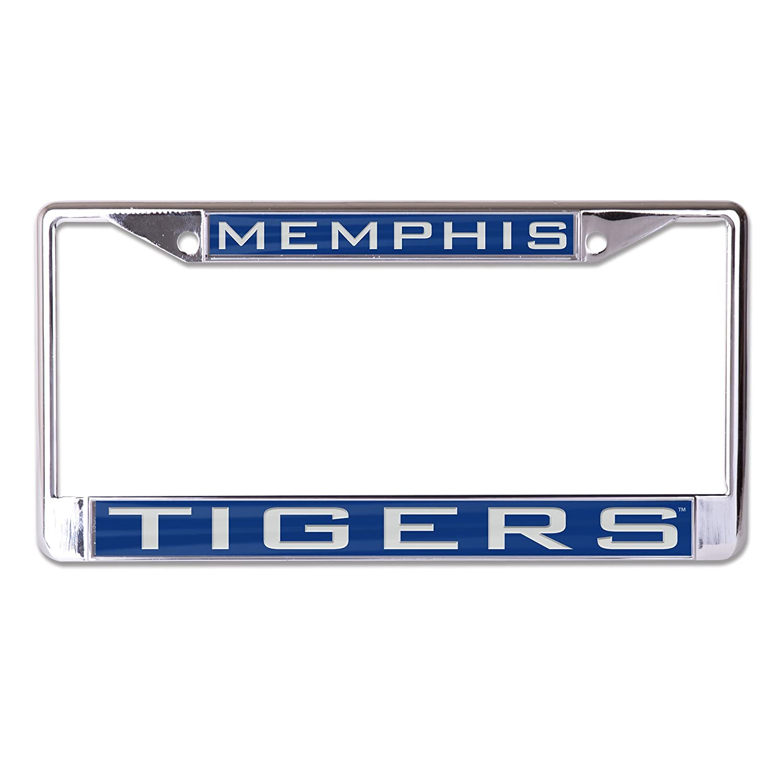 NCAA Memphis Tigers Inlaid Metal License Plate Frame, 2-Tag Corners