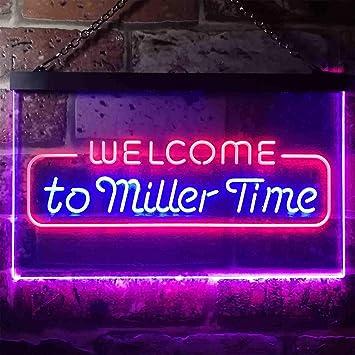 Amazon.com: zusme Welcome Miller - Cartel de neón con luz ...