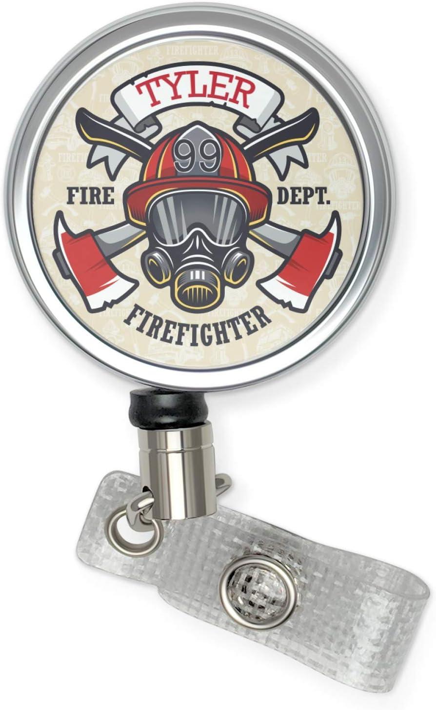 Love Fire Department-Red Line-Retractable ID Badge Holder-Name Badge Holder-Nurses Badge-Badge Clip-Badge Reels-Pediatric-RN-Nursing-Fireman
