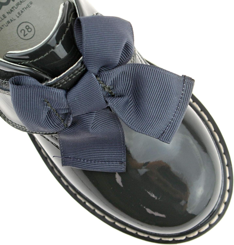 Irene Grey Patent School Shoes F Width-2 UK 34 EU DR01 Lelli Kelly LK8284