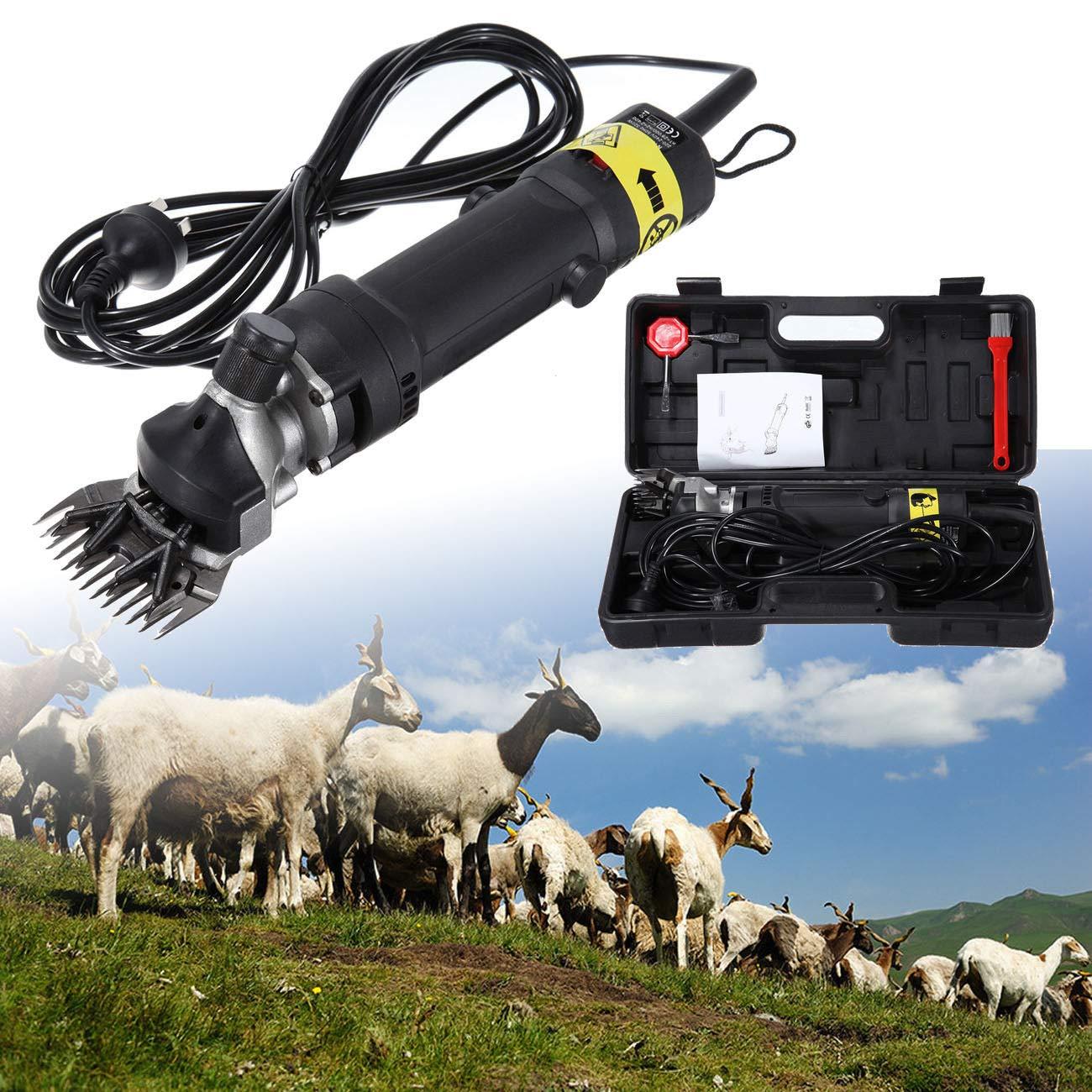 Ridgeyard 320W Electric Sheep Goat Irish Wolfhounds Clippers Shears Groomer Wool Shearing for Livestock Pet Animal Farm.