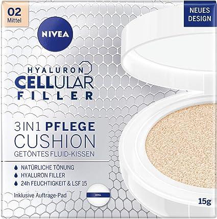 NIVEA Almohada 3 en 1 antiedad para un tinte natural y humedad para tipos de piel medios, 15 g, 02 medios.