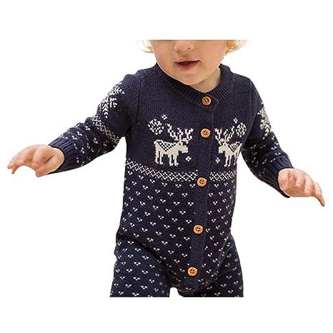 Vovotrade® feliz Navidad Baby disfraz infantil bebé Niños Niñas Cálido De Punto Pelele bebé recién
