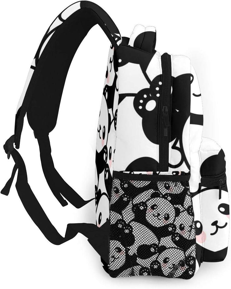 Boys Girls Backpack with Cute Cartoon Panda Laptop Backpacks For Women Travel Bag Camping Hiking Daypack