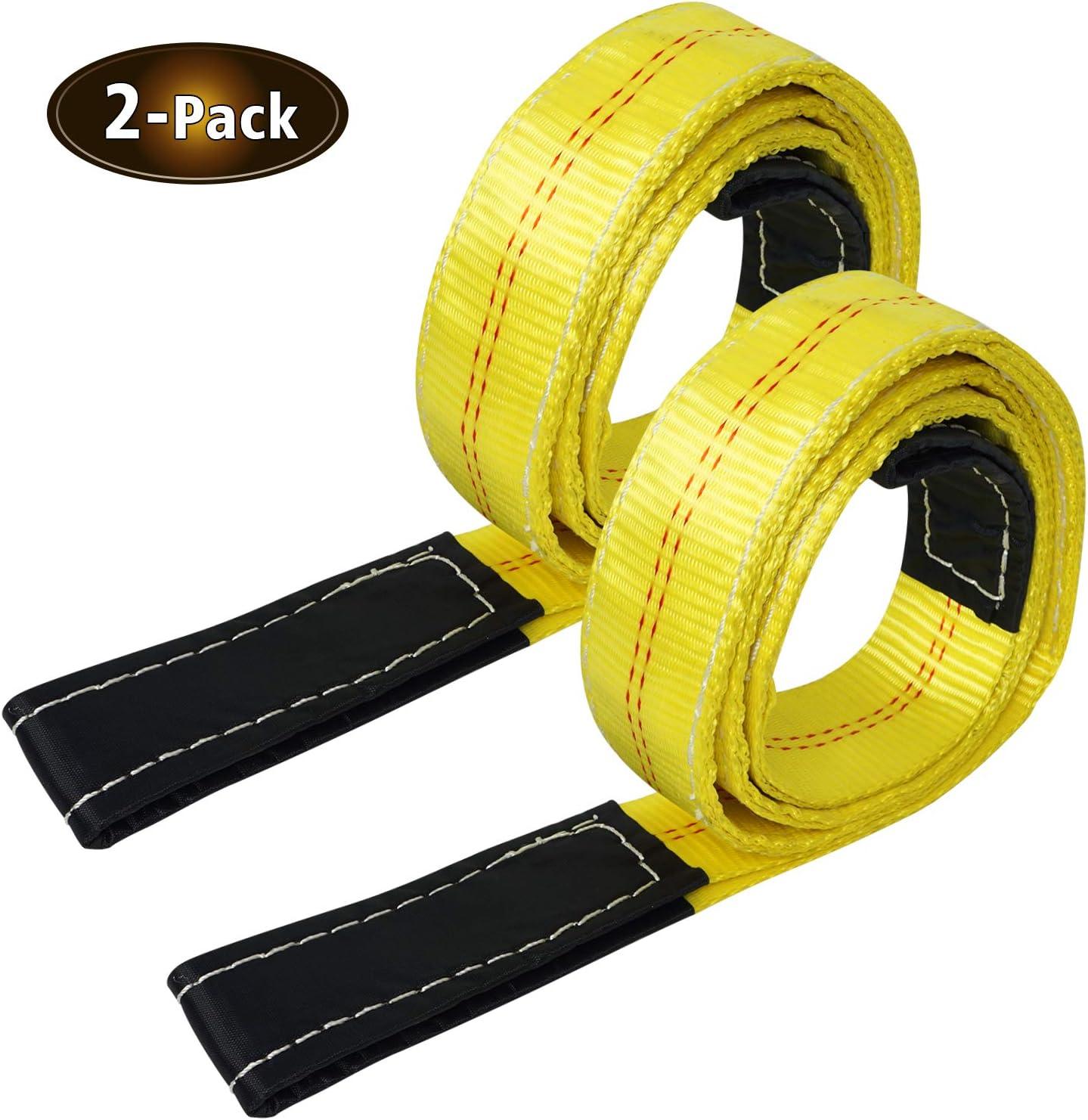 Tow Strap with HOOK winch sling ATV UTV