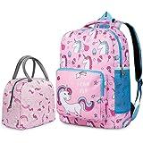 Unicorn Backpack for Girls, Toddler, Kids, Teen, Pink School Bookbag For Elementary Kindergarten Student, Preschool Children With Lunch Bag