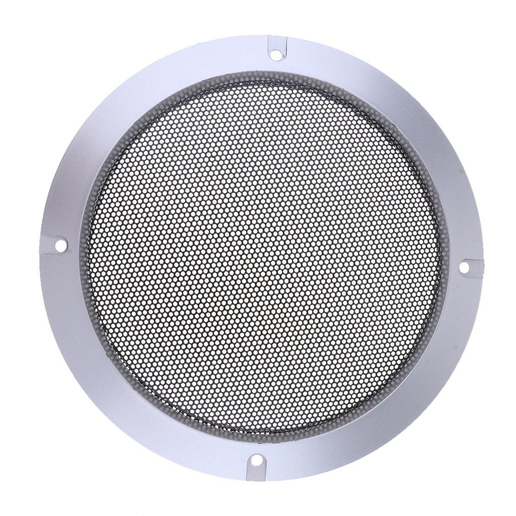 FITYLE 4inch Speaker Grills Housse De Protection avec Vis Or - Argenté 10''