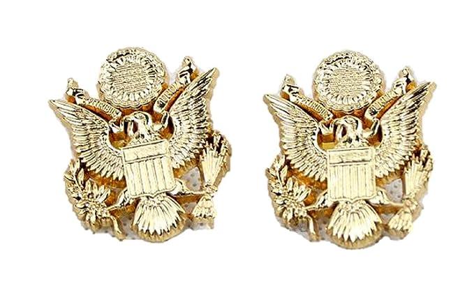 ee77dc5e07c Amazon.com  The Walking Dead Uniform Eagle Insignia Collar PIN Badge  Replica Props 1 Pair  Clothing