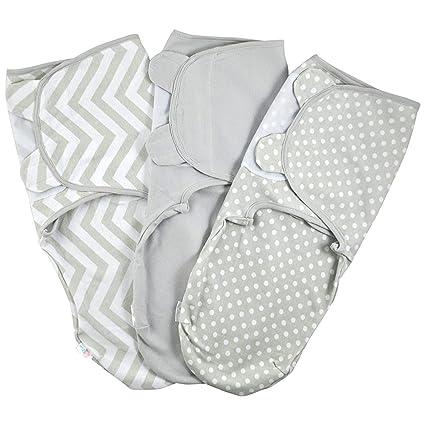 Manta Envolvente para Bebé y Recien Nacido – 3x Saco de Dormir Manta de Arrullo Cobija