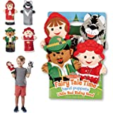 Melissa & Doug Fairy Tale Friends Hand Puppets - The Original (Set of 4, Little Red Riding Hood, Wolf, Grandmother, Woodsman,