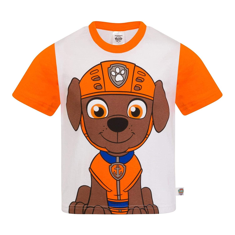 UK 5-6 Anni Ragazzi Paw Patrol T-Shirt Bambini Maglia Maglietta Personaggi Zuma T-Shirt