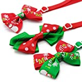 Liaoshanshan 9 Piece Pet Christmas Bowtie Holiday