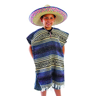 Child Size Traditional Poncho - No Sombrero,COLORS MAY VARY: Toys & Games