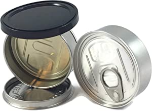PRESSITIN Tuna Tin Cans 100ML FITS 3.5/4 GRAM - BLACK LIDS INCLUDED - Self Hand Sealed NO MACHINE NEEDED - Smell Lock Tamper Evident Proof (20)