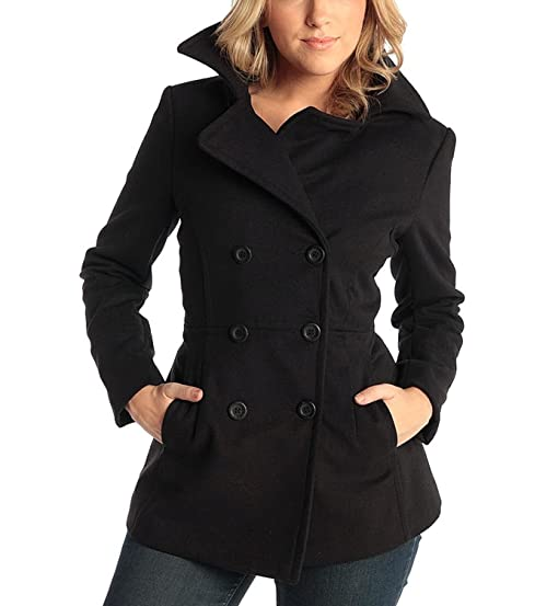 Amazon.com: Alpine Swiss Emma Womens Peacoat Double Breasted ...