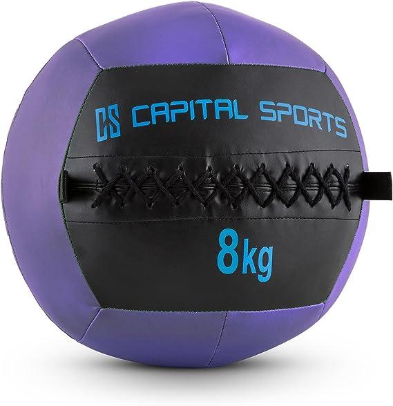CapitalSports Wallba 8 Balón Medicinal de Cuero sintético (Peso 8 ...