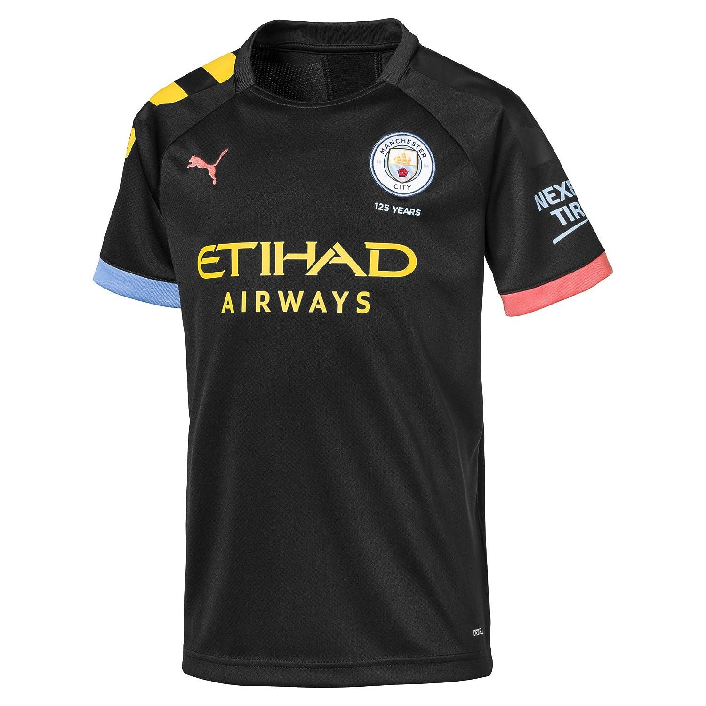 PUMA MCFC Away Shirt Replica SS Jr with Sponsor Logo - Maillot ...