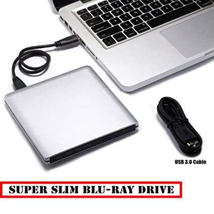 Ultra Slim externo USB3.0 BD/DVD/CD Grabador, 3d Blu-