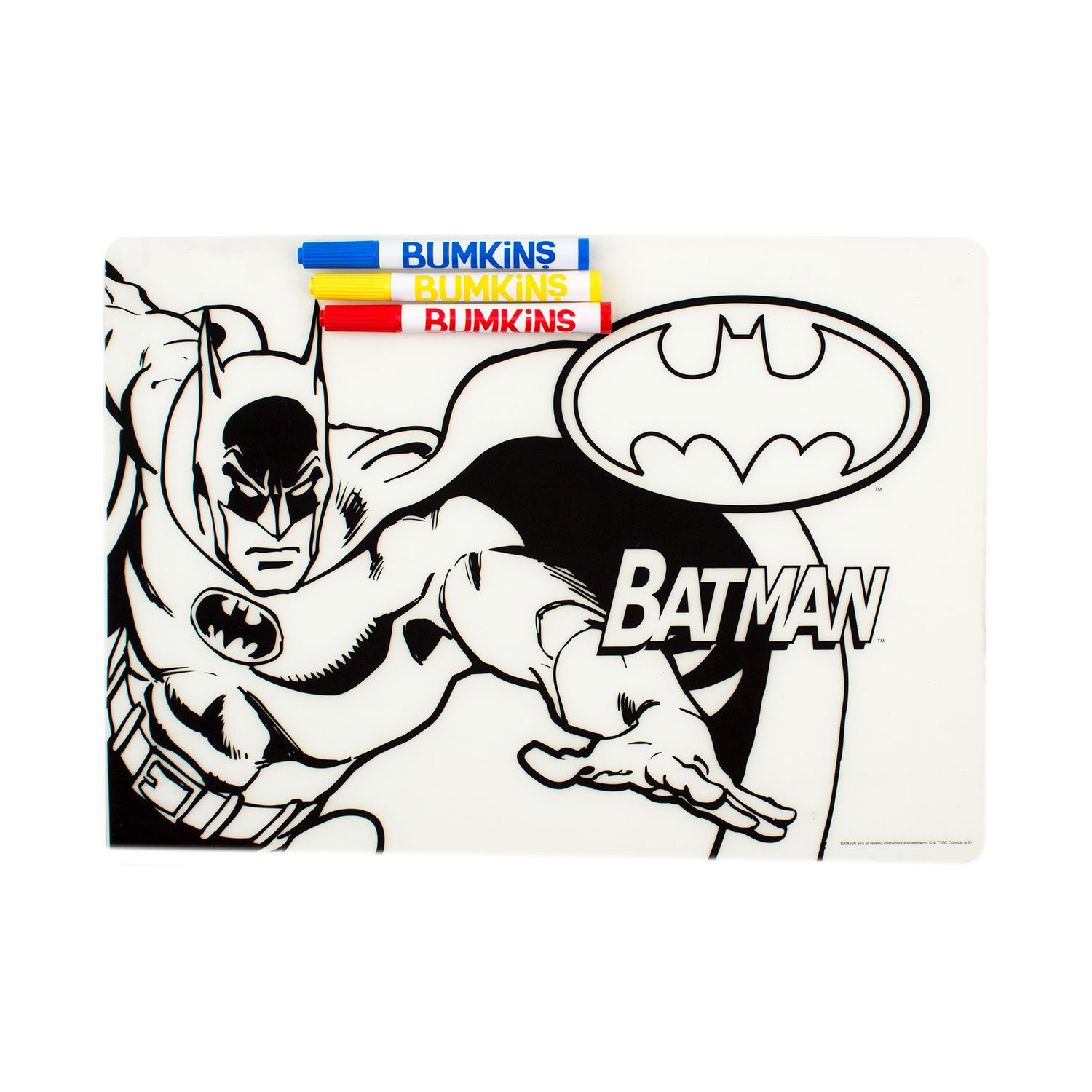 Batman Bumkins DC Comics Silicone Coloring Placemat