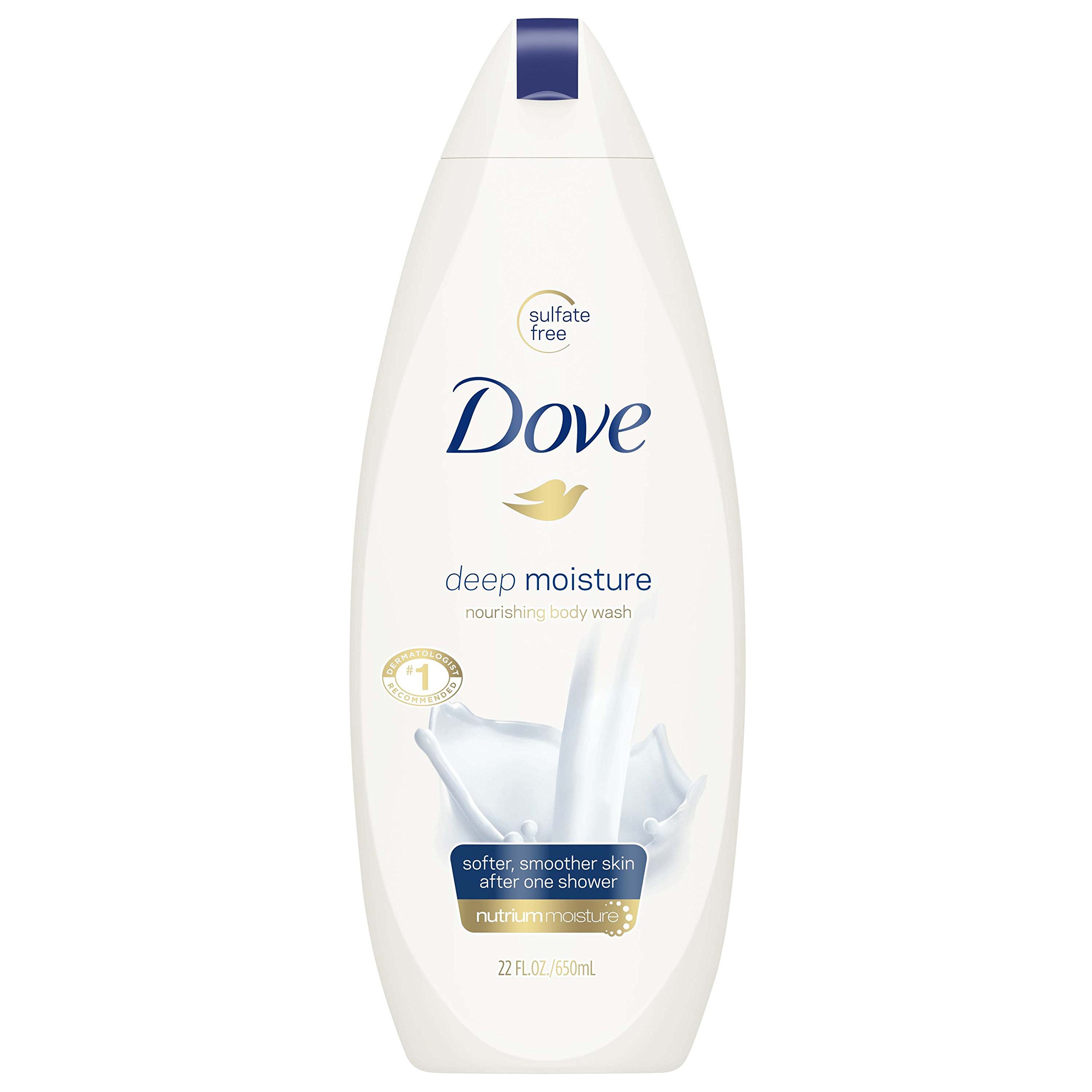 Dove Body Wash, Deep Moisture, 22 oz (Pack of 4)