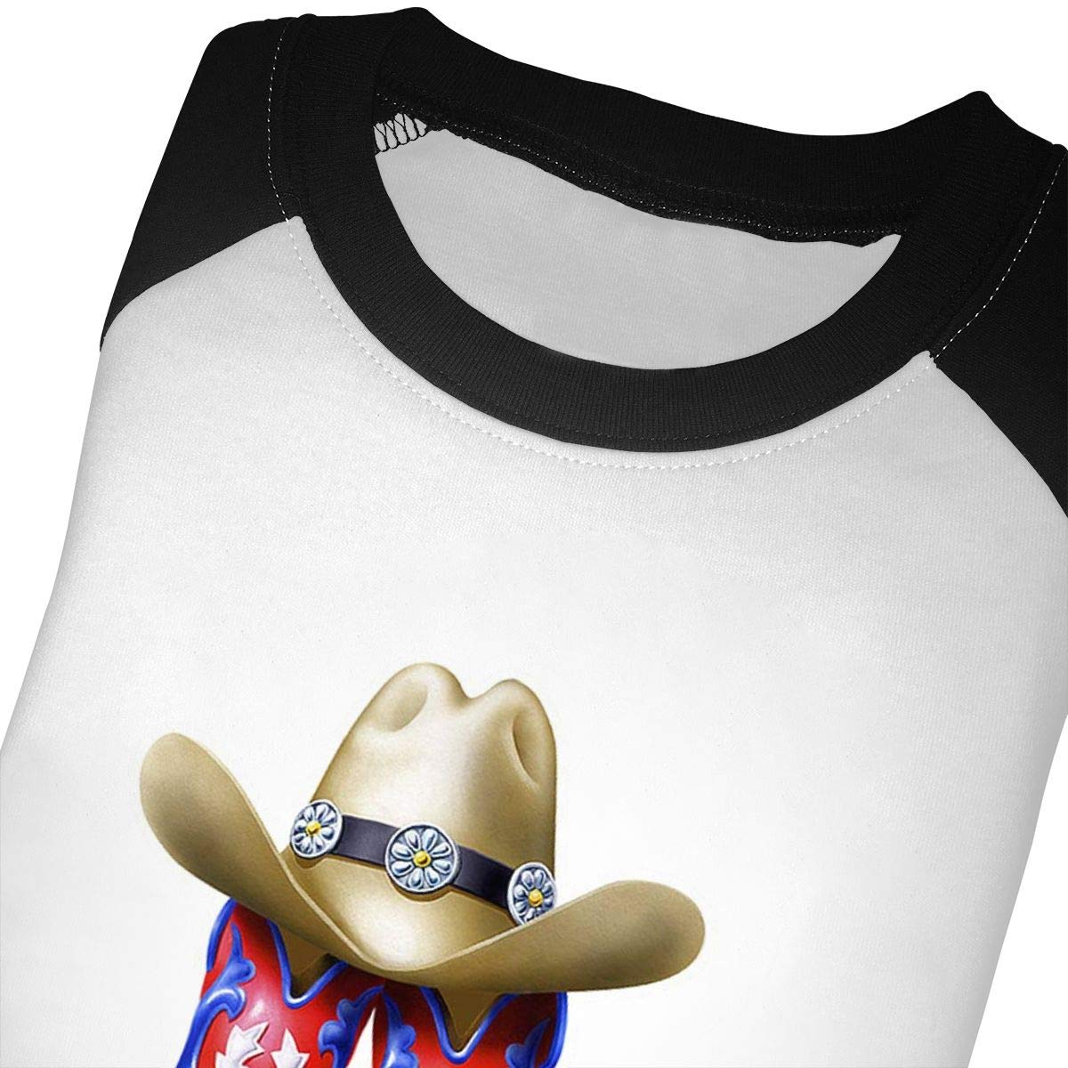 Yimo Cowboy Boot Hat Rope Unisex Toddler Baseball Jersey Contrast 3//4 Sleeves Tee