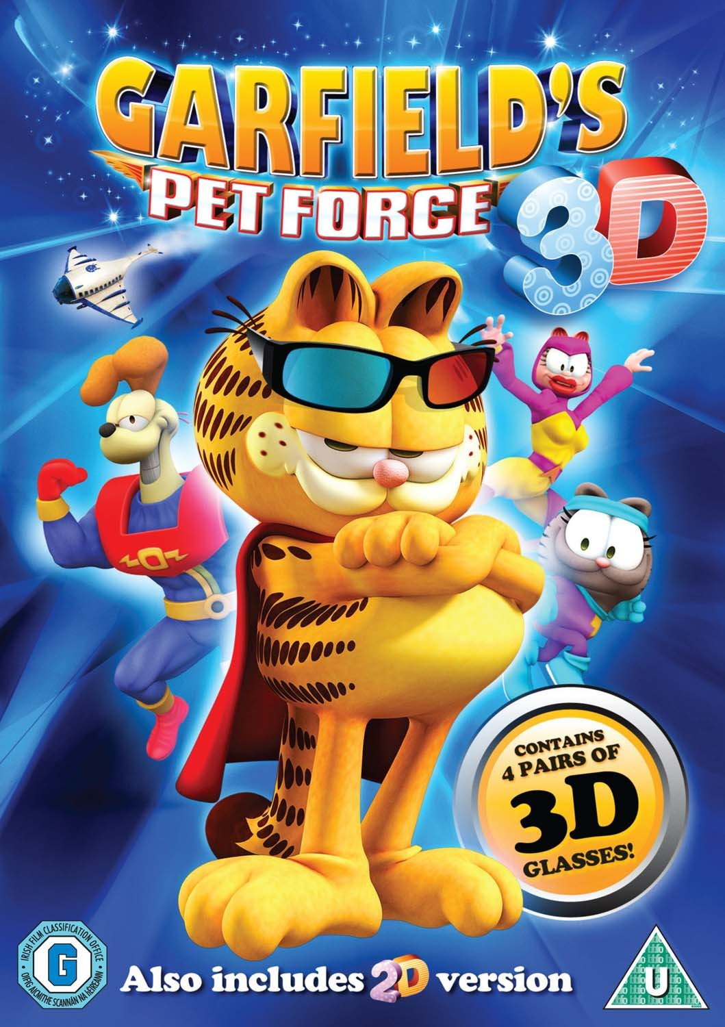 Amazon Com Garfield Pet Force 3d Dvd Movies Tv