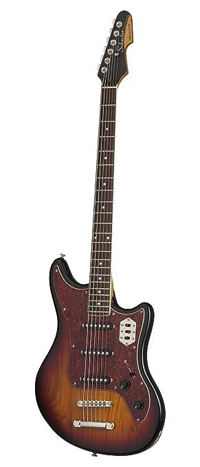 Schecter 293 diseño guitarra eléctrica, sunburst en 3 Tonos perla: Amazon.es: Instrumentos musicales