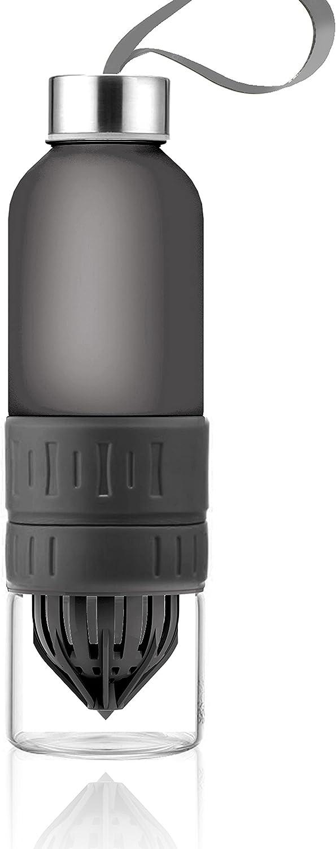 Twist-N-Go Fruit Blender Water Bottle, 20-Ounce, Black