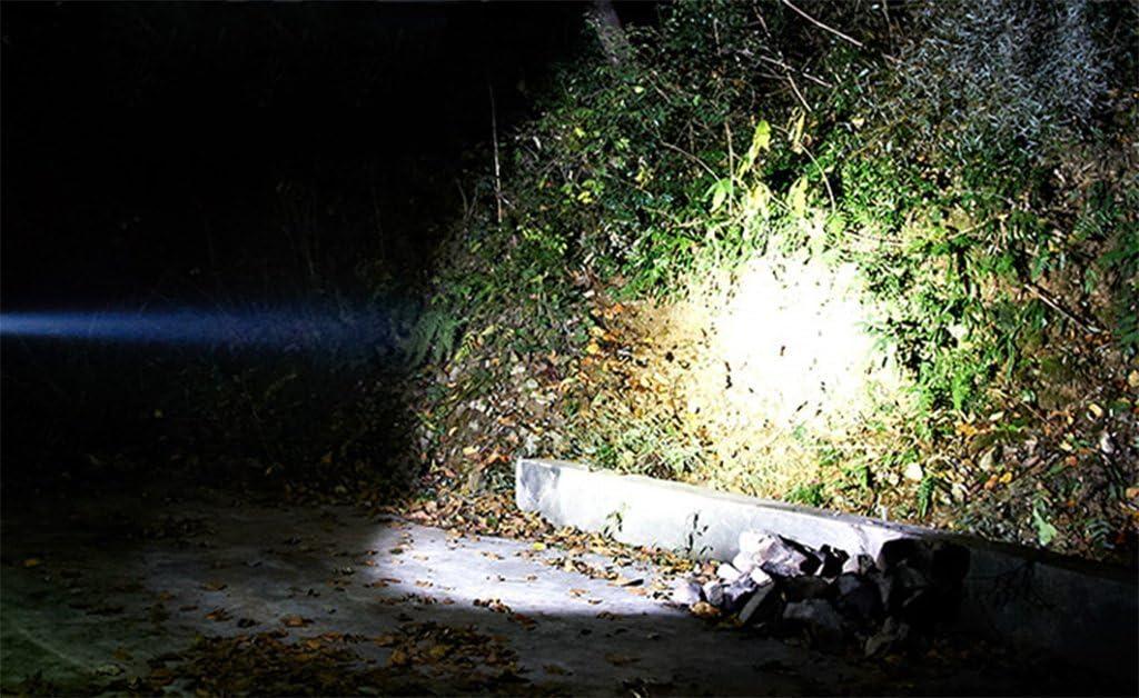 GARGSZ 2000 Metros De Luz Fuerte Linterna Port/átil De Carga Super Brillante De Largo Alcance 5000 De La L/ámpara De Alta Viga Cuentas Al Aire Libre Linterna De Caza,Gold,1