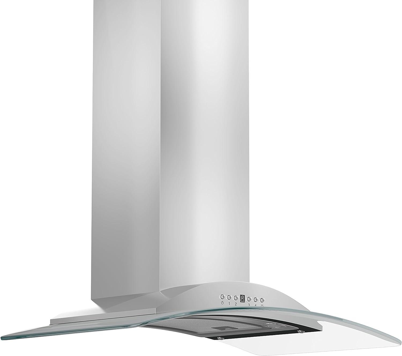ZLINE 30 pulgadas. Campana de montaje en pared 760 CFM en acero inoxidable y vidrio (KN-30): Amazon.es: Grandes electrodomésticos