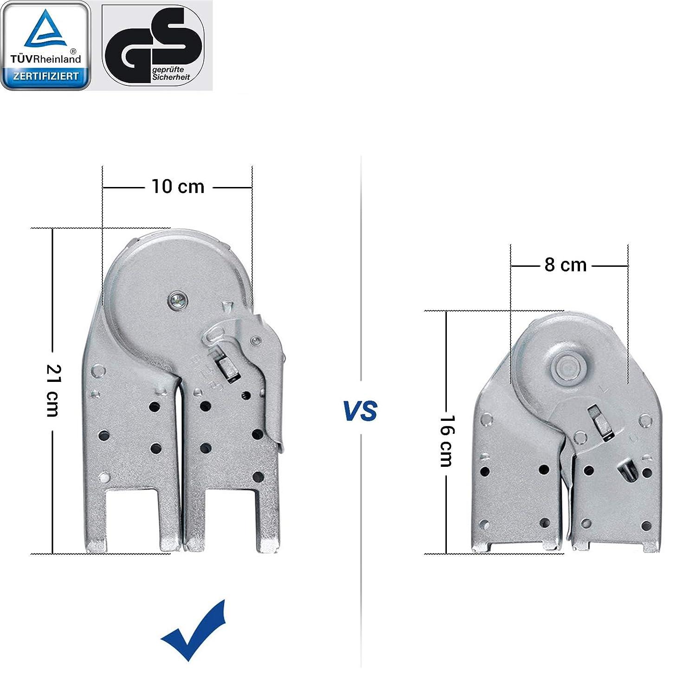 SONGMICS Escalera de Aluminio Multifuncional GLT36M Conforme al Est/ándar EN131 T/ÜV Rheinland GS M/áx Carga de Capacidad de 150 kg