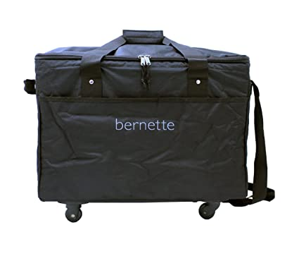 Amazon Bernette Rolling Sewing Machine Trolley Cool Bernina Sewing Machine Totes On Wheels