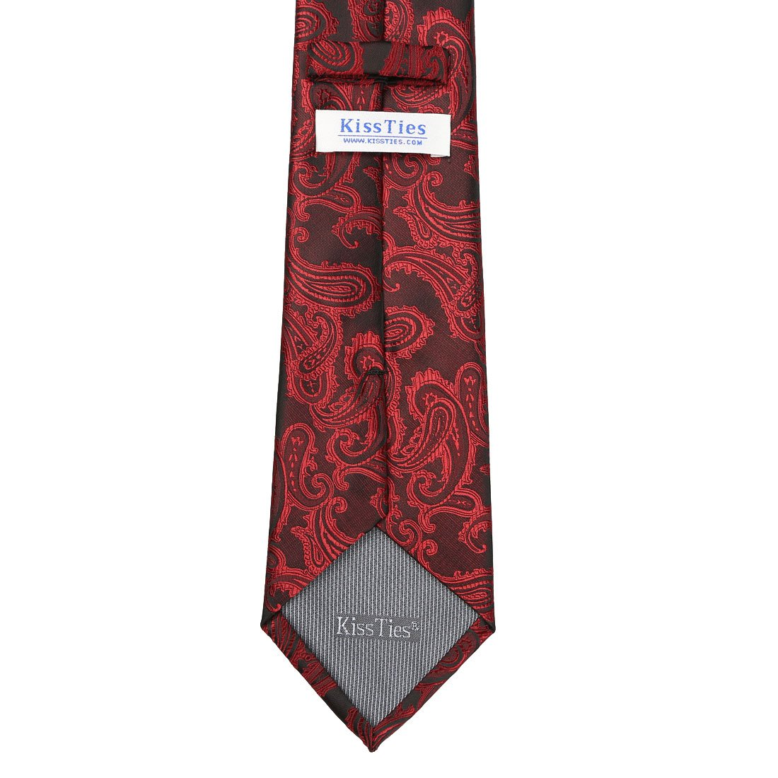 Gift Box Pocket Square Hanky KissTies Mens Tie Set Paisley Necktie