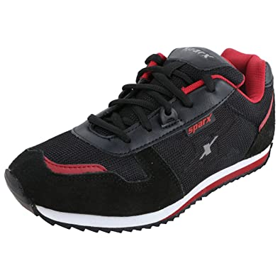 4fe8143bf29 Sparx Men's SM0119 Series Black Red Synthetic Leather Sports Shoes 6UK