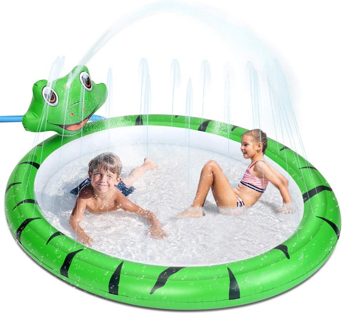 Splash Pad, Piscinas Hinchable Niños con Aspersor, Alfombrilla De Juego para Exteriores, Juguete de Agua, para Jardín, Patio Trasero Niños