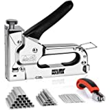 Staple Gun NEU MASTER, 3 in 1 Heavy Duty Staple Gun with Stapler Remover and 2000Pcs Staples, Manual Staple Gun for…