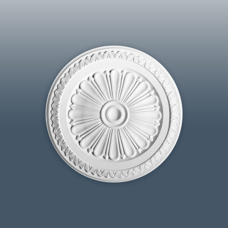 ORAC R14 Ceiling Rose Rosette Medallion Centre quality polyurethane classic leaf decor white   33 cm = 13 inch diameter Orac Decor