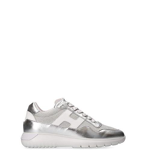 Hogan Sneakers Donna HXW3710AP31KWX0906 Pelle Argento