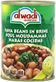 Al Wadi Foul Moudammas - Fava Beans in Brine, 14-Ounce (Pack of 12)