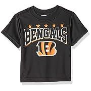NFL Cincinnati Bengals Unisex-Baby Short-Sleeve Tee, Black, 12 Months